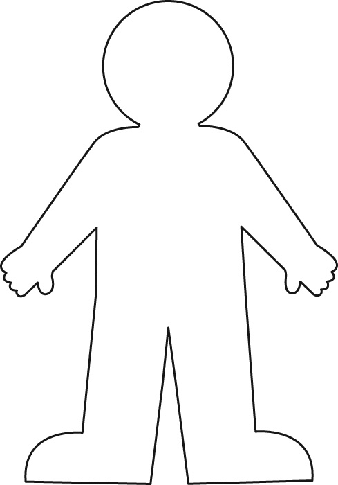 Gallery For gt Person Outline Coloring Page