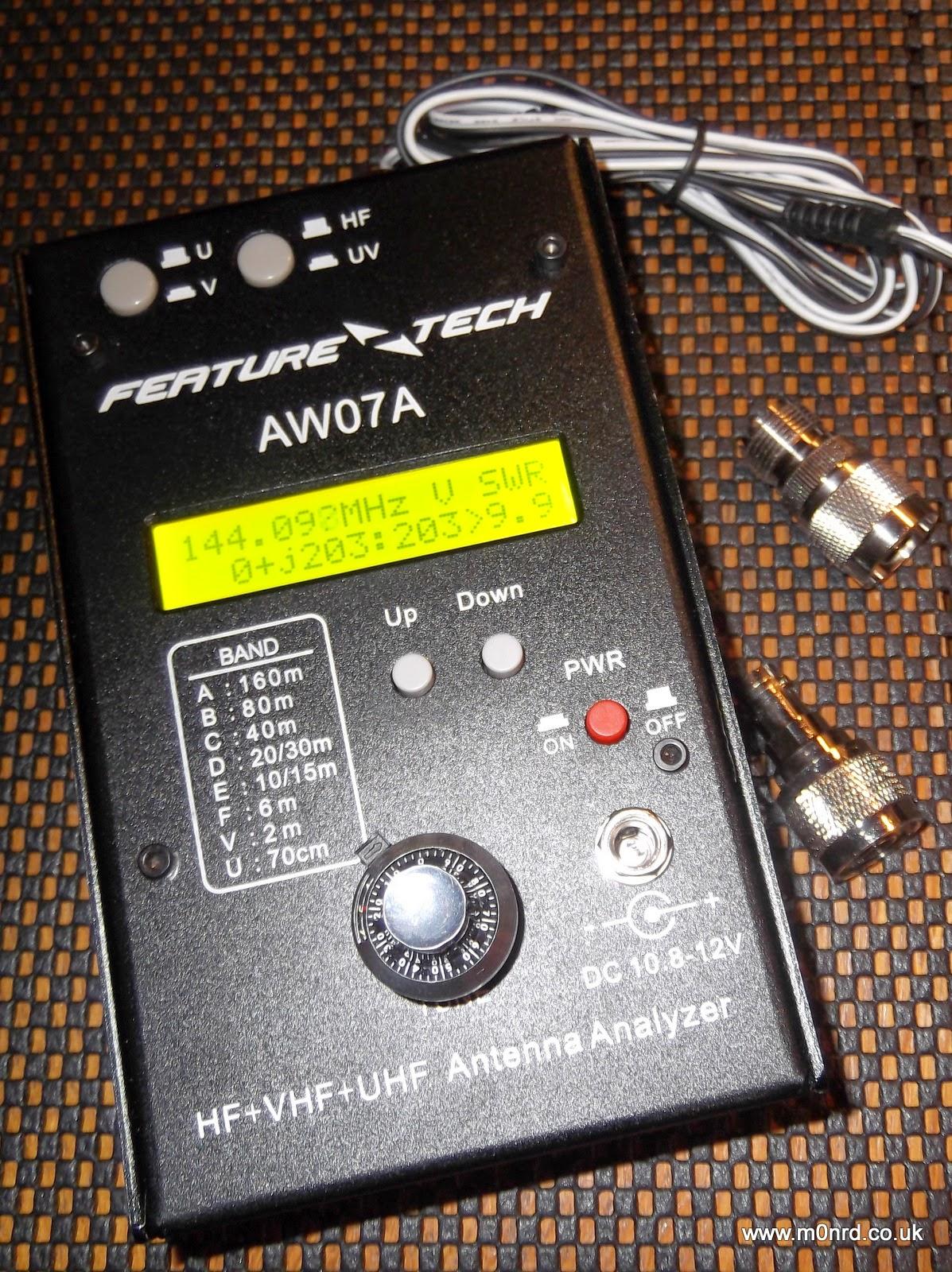 2018 AW07A HF//VHF//UHF 160M Impedance SWR Antenna Analyzer For Ham Radio