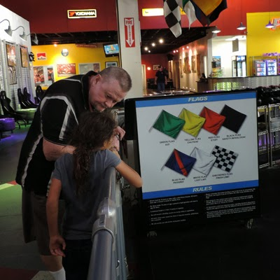 Opa and Sofia go over both the K1 Speed race flags and track rules.