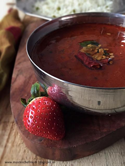 strawberry kara kuzhambu