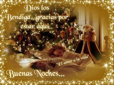 Dios los bendiga, imagen con luces de navidad