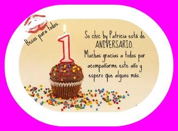 1 aniversario blog