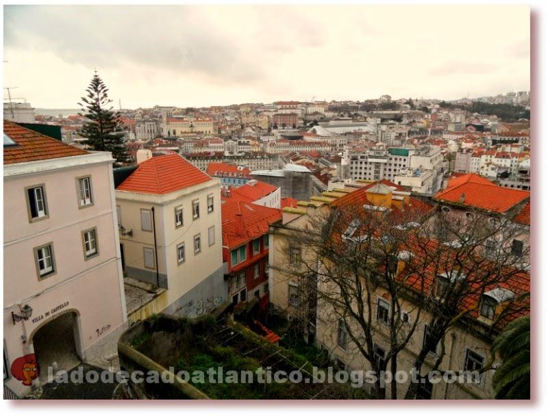 Foto de paisagem urbana feita a partir da Rua Costa do Castelo, Lisboa