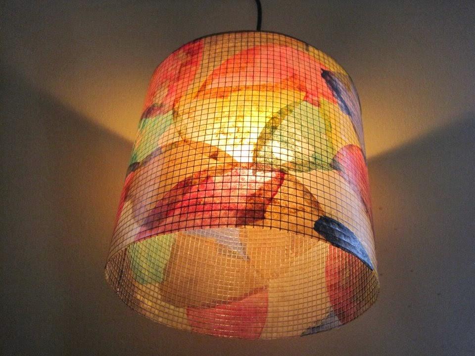 luminária feita com filtro de café