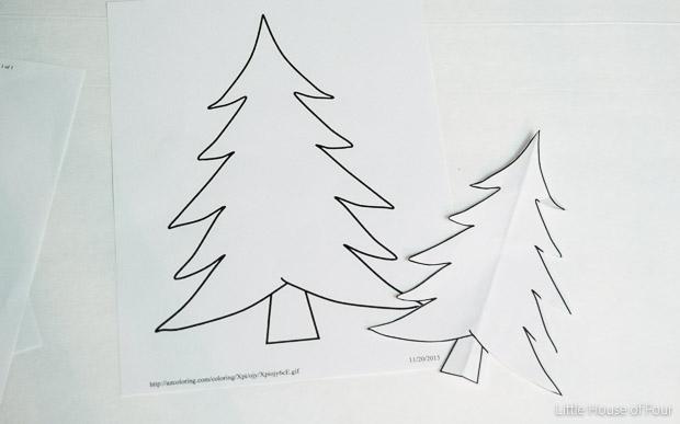 christmas trees printables