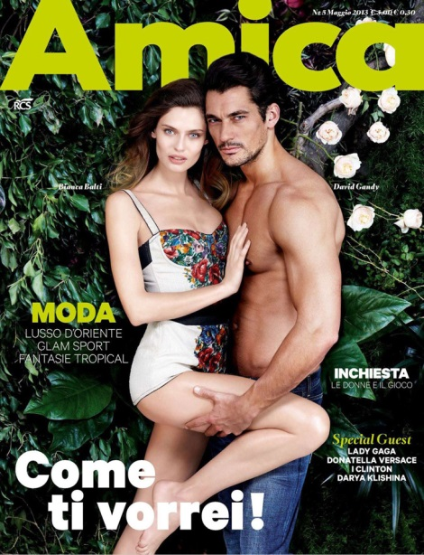 Bianca Balti & David Gandy on the Cover of Amica 2013