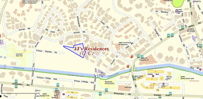 jj's residences location map