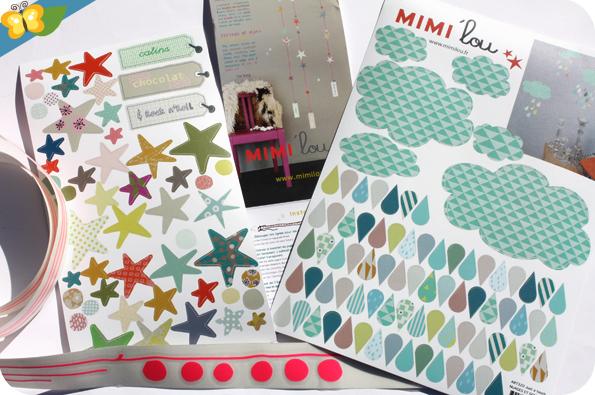 Stickers muraux nuages et gouttes par MIMI'lou