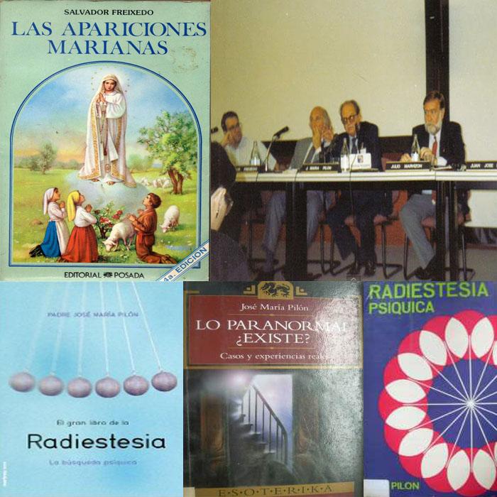 José María Pilón S.J fundó el grupo Hepta de parapsicología Apariciones+Marianas+-+SALVADOR+FREIXEDO+y+JOS%C3%89+M%C2%AA+PIL%C3%93N+-+Seminario+Ufolog%C3%ADa+El+Escorial+1992