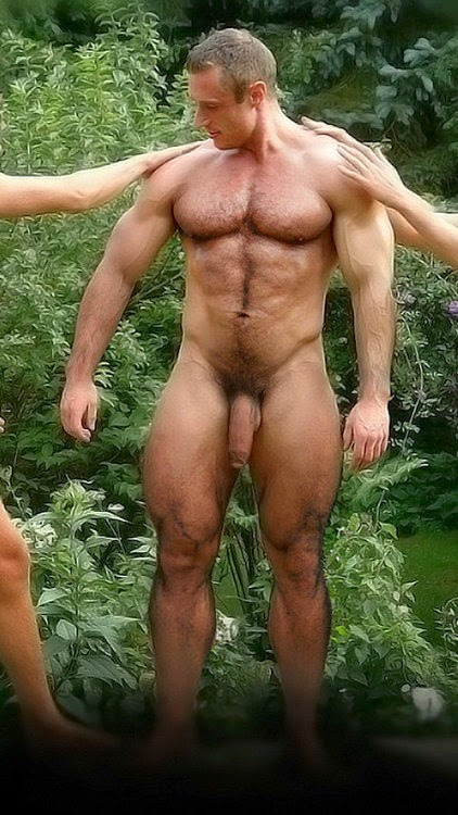 Hot naked skinny guys abs