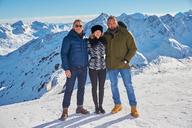 Daniel Craig, Léa Seydoux & Dave Bautista commence filming SPECTRE in Solden, Austria