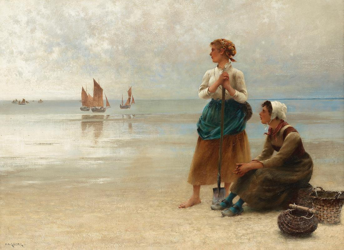 August Hagborg Girls Gathering Oysters  rittany