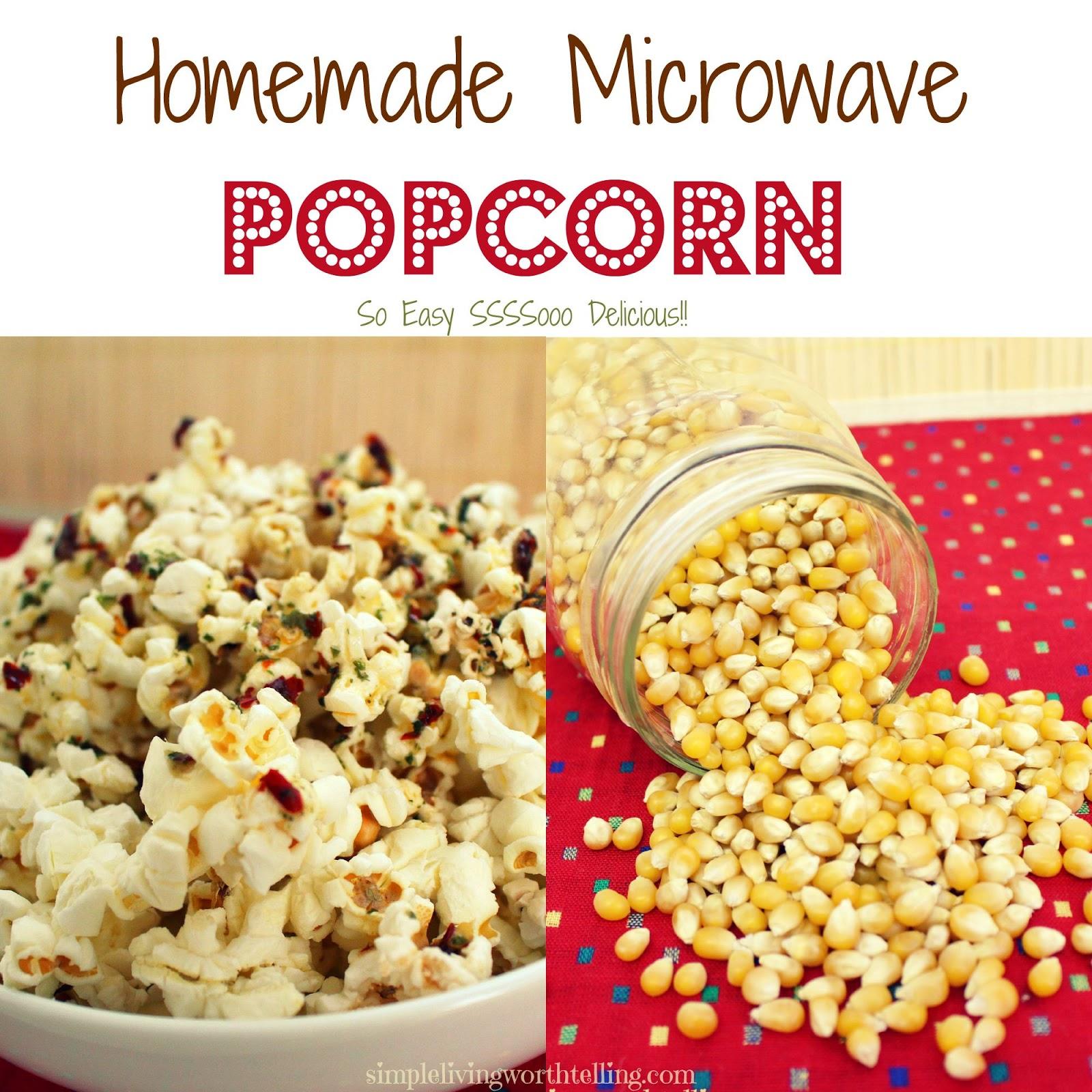 Homemade Microwave Popcorn Recipe — Dishmaps