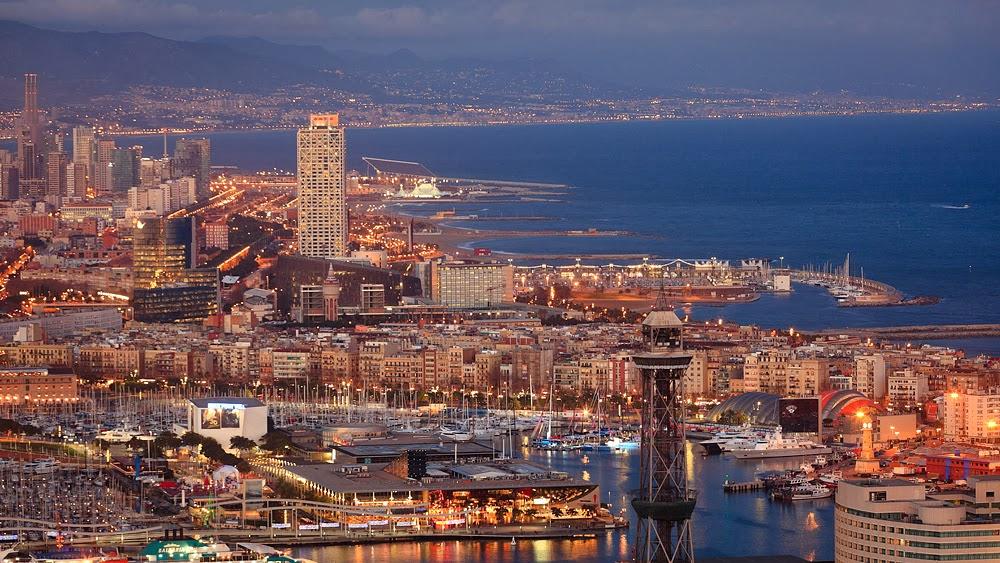 Panorámica puerto de Barcelona
