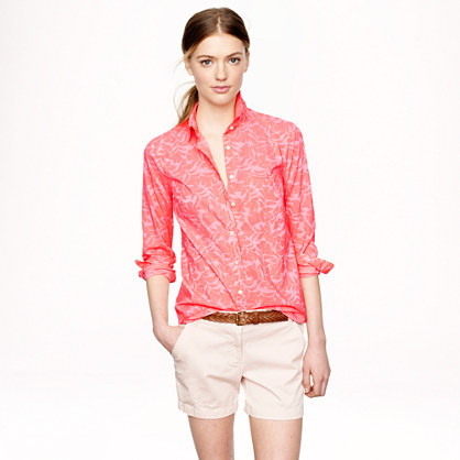 Boy Shirt in Tropical Floral