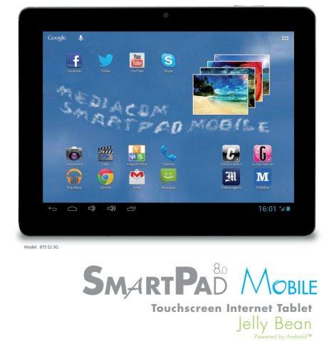 Annunciato un nuovo tablet android Jelly Bean con modulo 3G di Mediacom e display da 8 pollici IPS