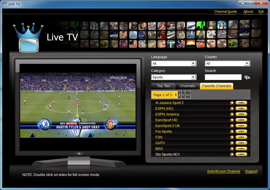 Stream direct online tv network live