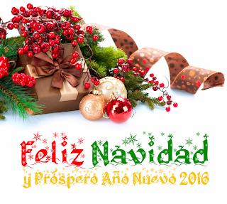 Feliz Navidad 2015 y Próspero Año Nuevo 2016