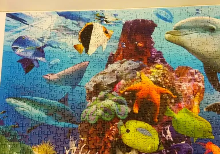 Ravensburger Underwater 2000 piece jigsaw puzzle close-up 1