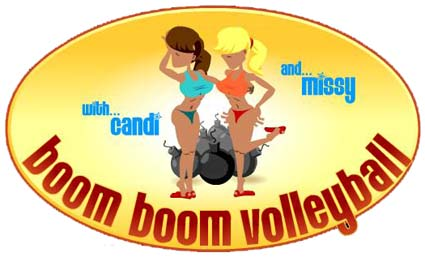 topless boom boom volleyball