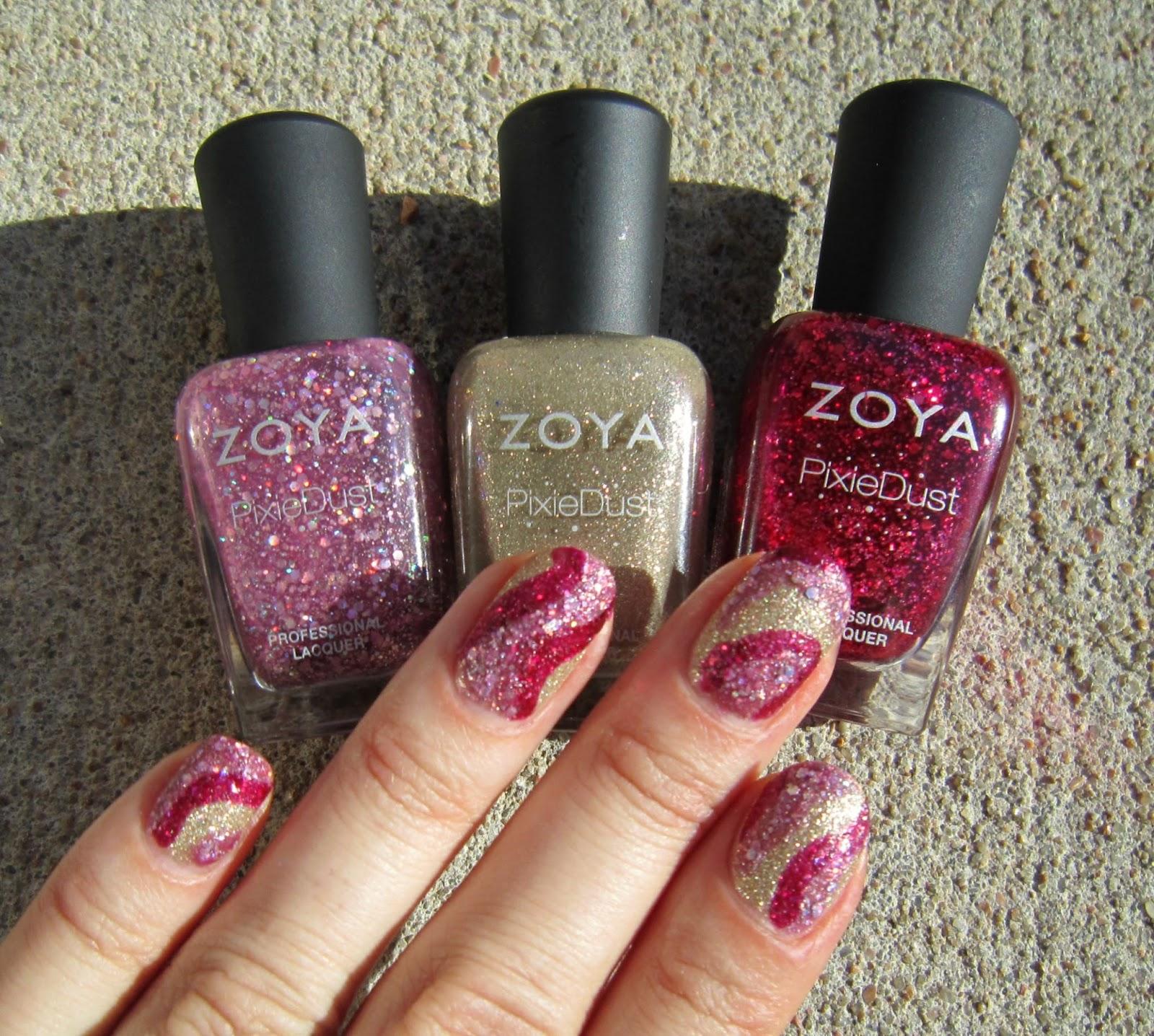 Concrete and Nail Polish: Nail Art With Zoya Pixie Dust