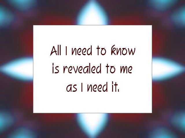 KNOWLEDGE affirmation