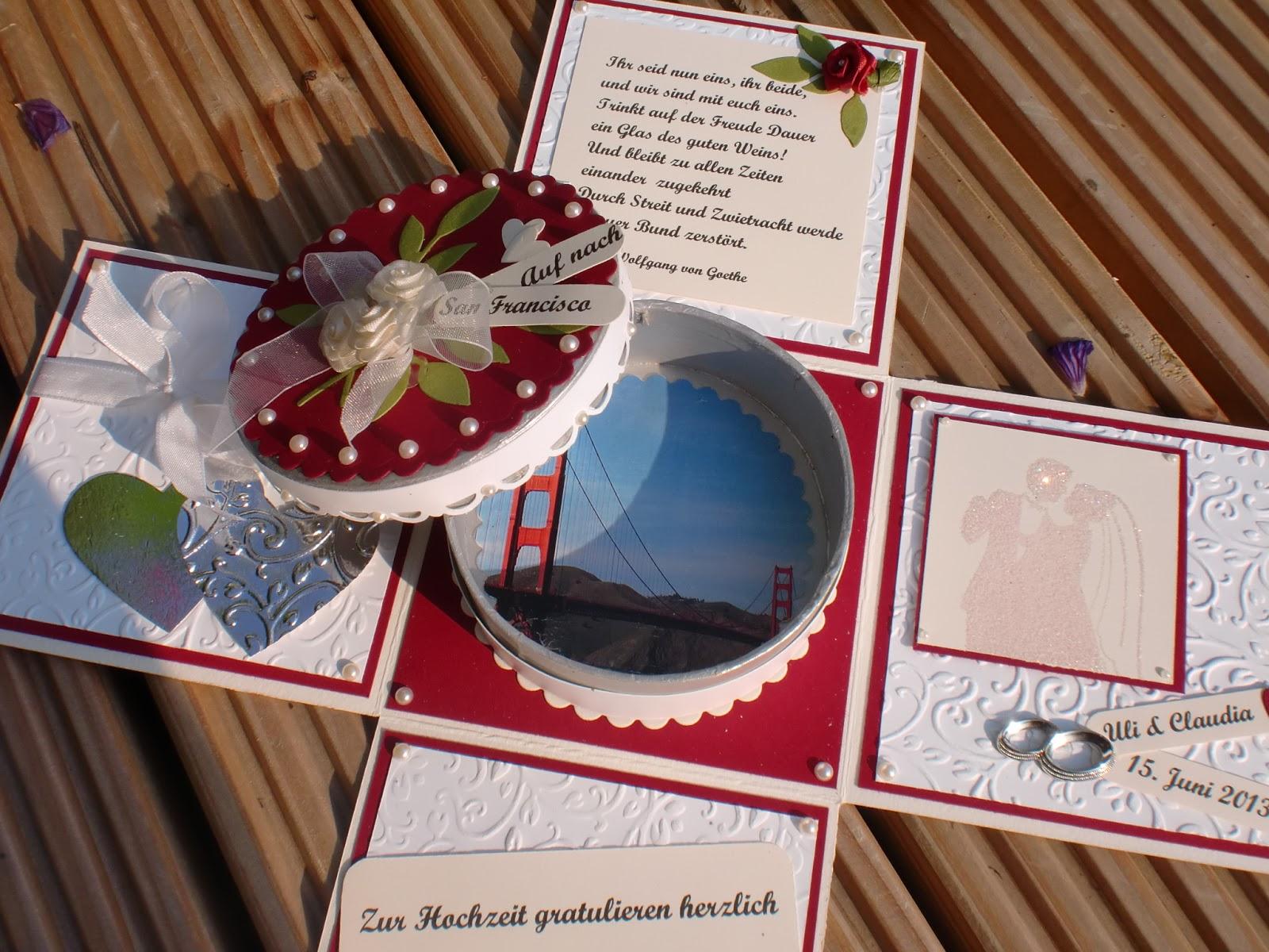 Kartenzauber Zur Hochzeit eine Explosionsbox