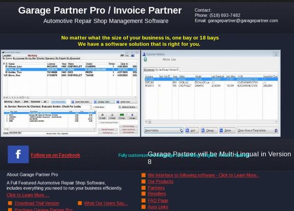 free download auto repair software garage partner