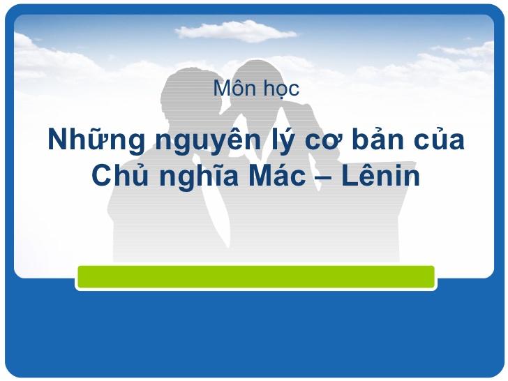 tài liệu ôn tập những nguyên lý cơ bản chủ nghĩa Mac Lênin