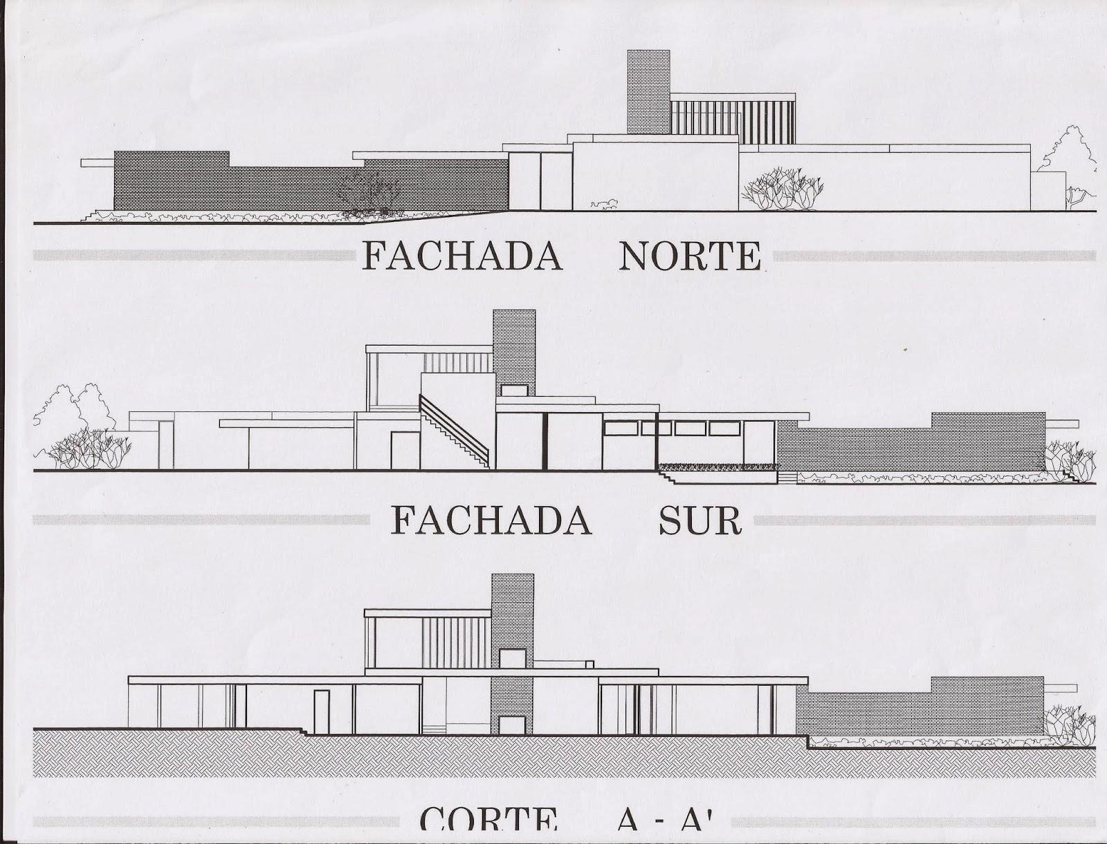 Historia de la arquitectura moderna casa del desierto for Arquitectura de casas modernas planos