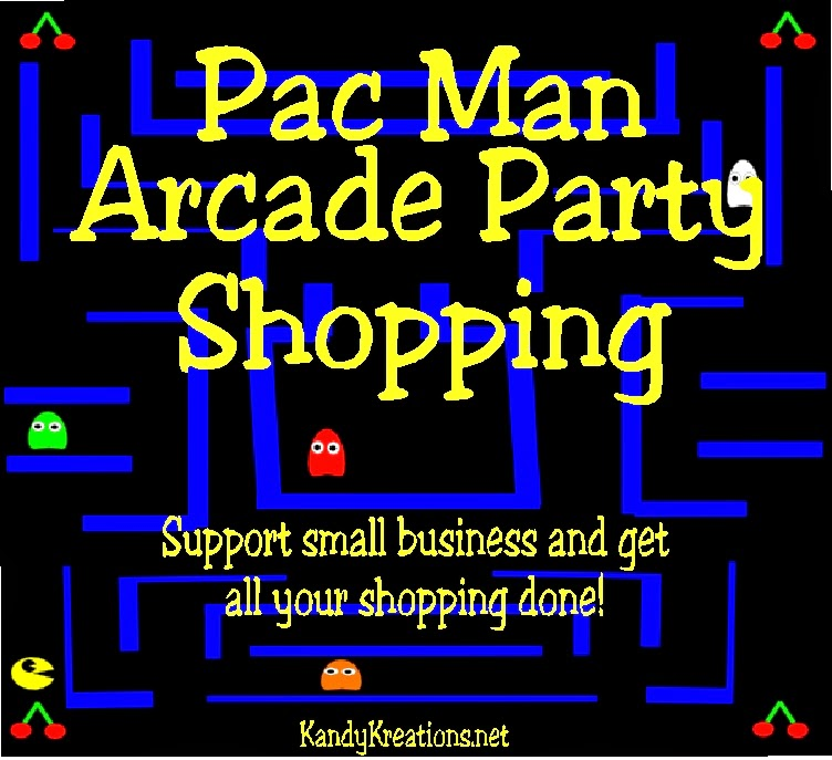 Find everything you need to throw an amazing Pac Man arcade party for your next birthday. Shop small business and help the 'mom next door' while decorating for a fun Pacman party.