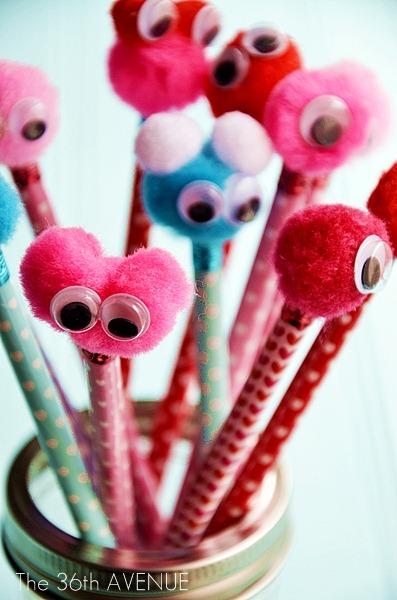 lapices pompones Gota Creativa
