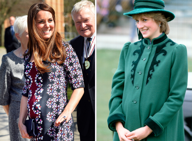 model baju hamil pesta kate middleton