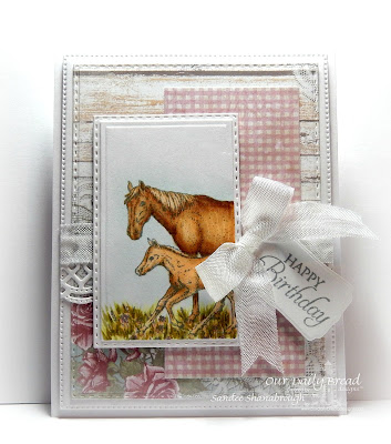Our Daily Bread Designs Stamp Set: Saddle Up, Our Daily Bread Designs Custom Dies: Flourished Star Pattern, Double Stitched Rectangles, Mini Tags, Beautiful Borders, Rectangles, Our Daily Bread Designs Paper Collection: Shabby Rose