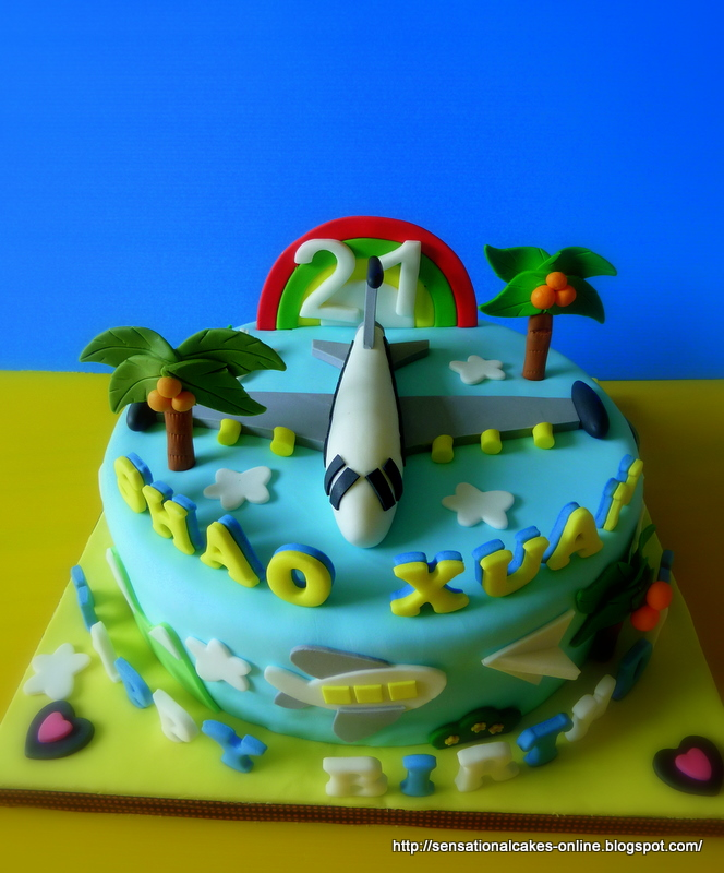 The Sensational Cakes AIRPLANE THEME AIR JET AEROPLANE