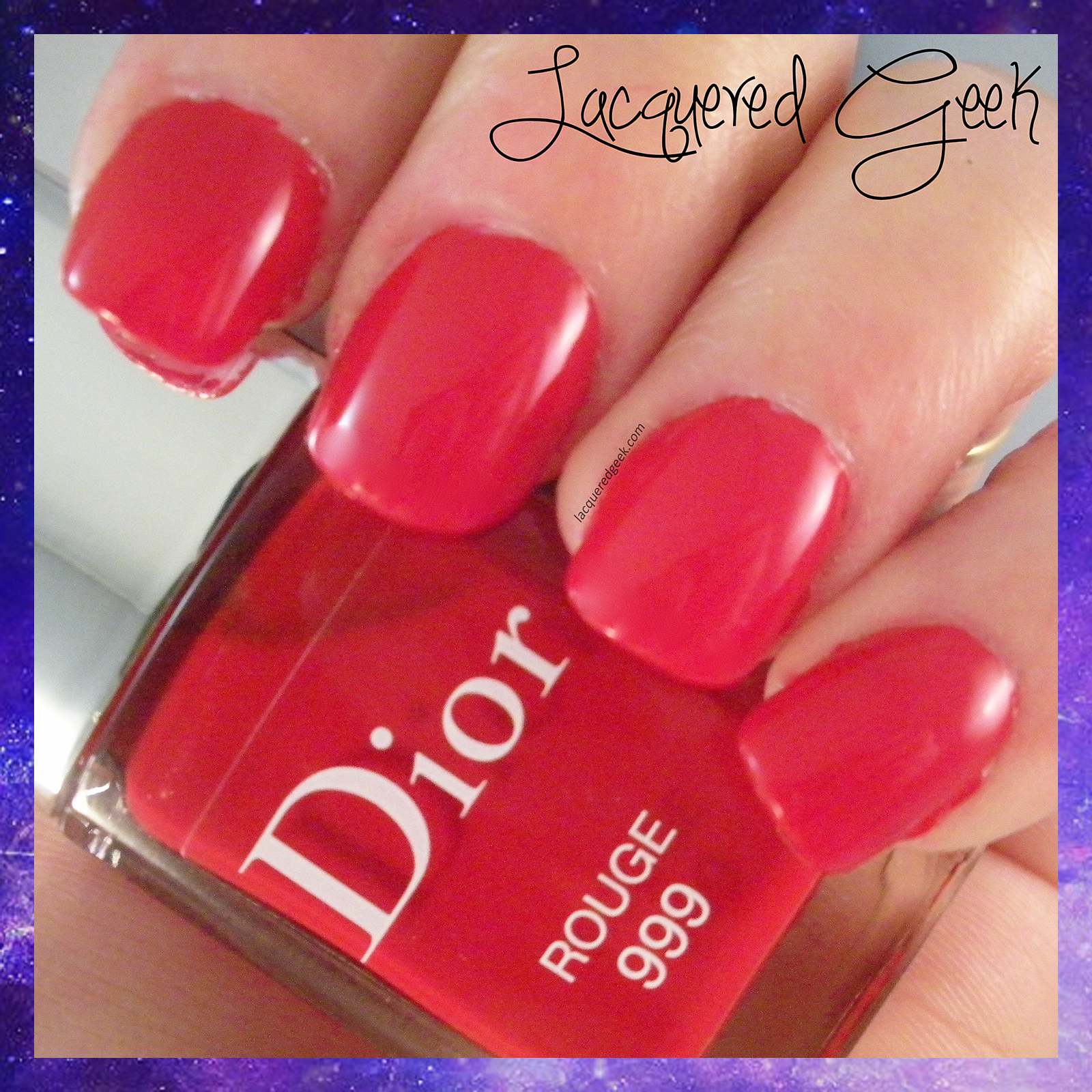Dior Rouge #999 swatch
