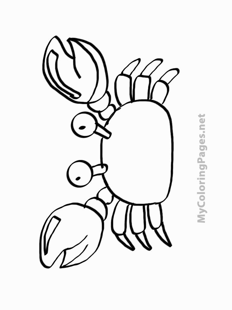 99 ideas crab coloring sheet on - Printable Coloring Pages Kids