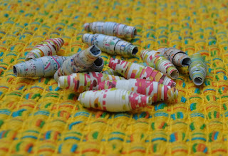 DIY rolled paper beads