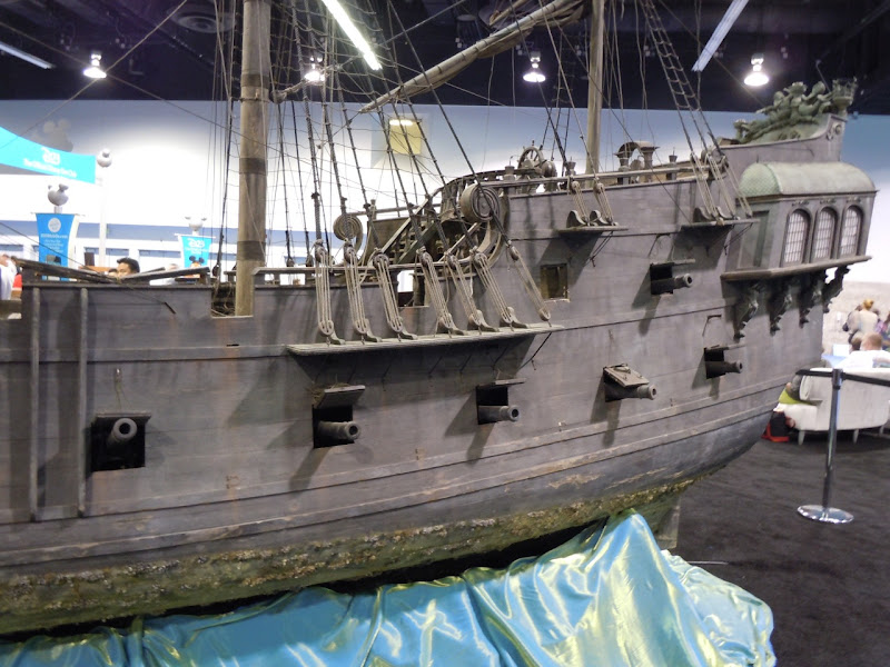 Black Pearl pirate ship cannons