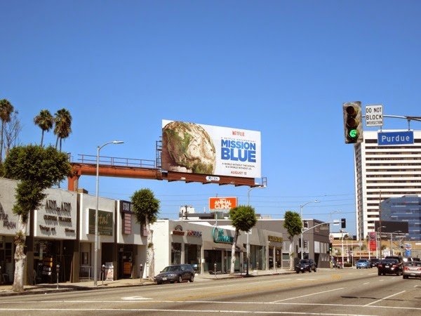 Mission Blue Netflix film billboard