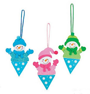 Snowman craft kit for Girl Scout winter meetings and class winter parties.