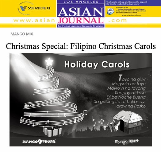 Mango Mix Asian Journal Christmas Filipino Carols
