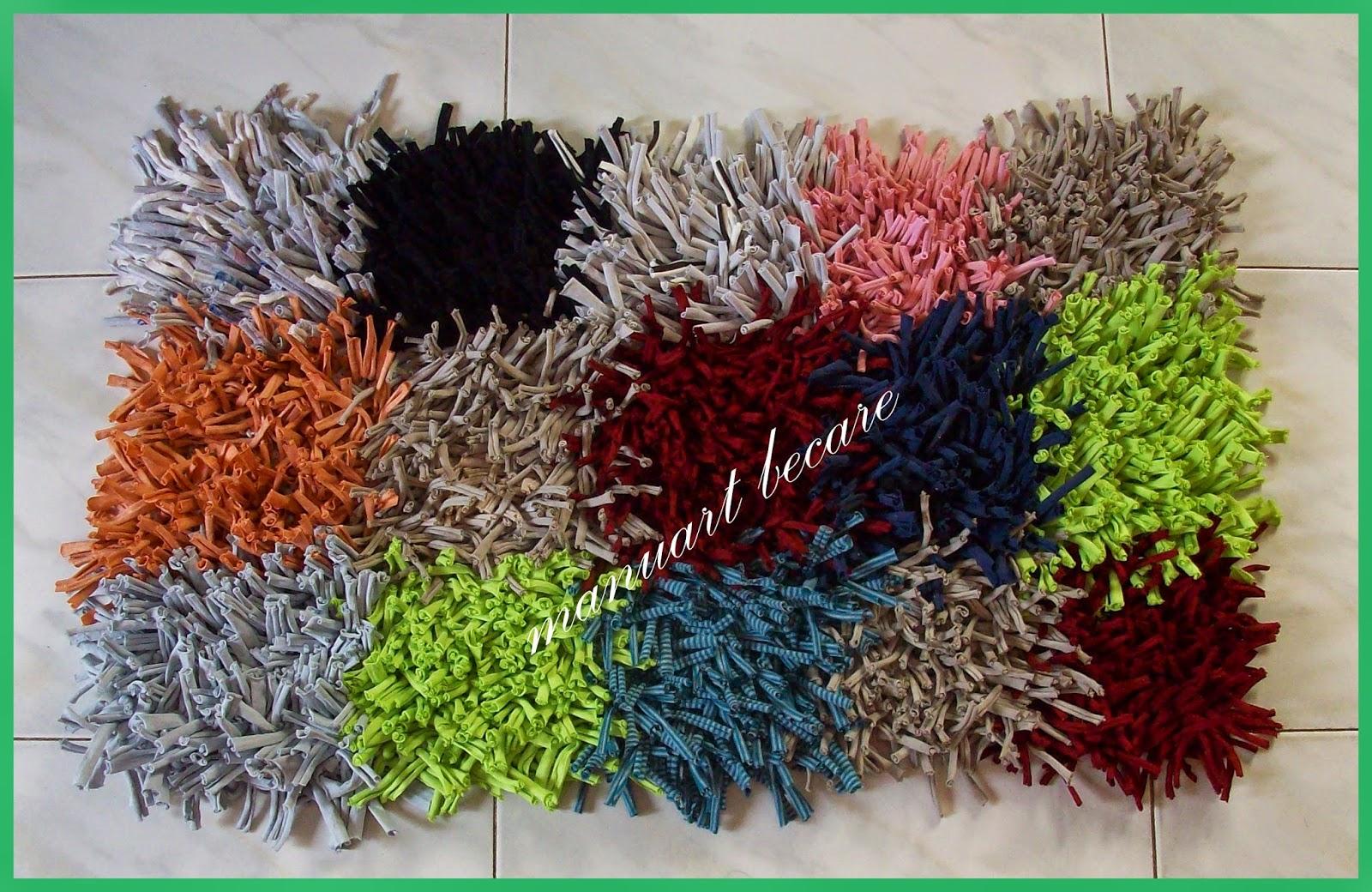 Manuart becare alfombra de trapillo multicolor for Alfombra nudos