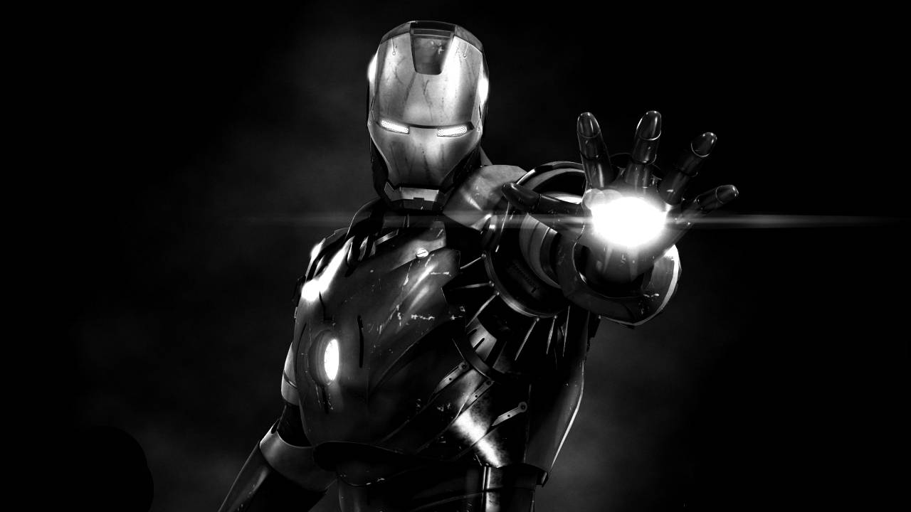 Iron Man 3 black and white Photos