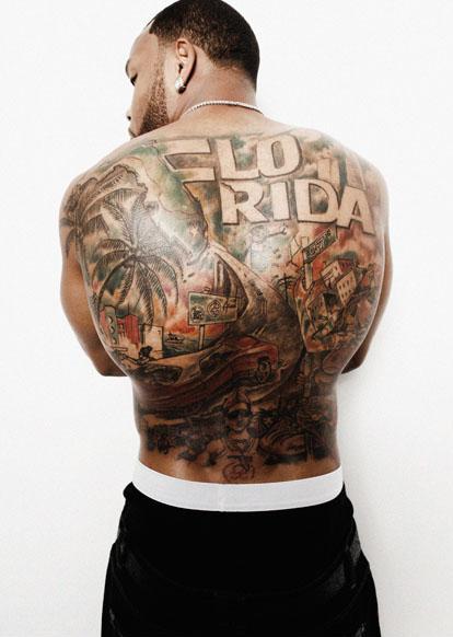 flo rida tattoos on back