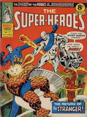 Marvel UK, The Super-Heroes #17, Silver Surfer vs the Fantastic Four