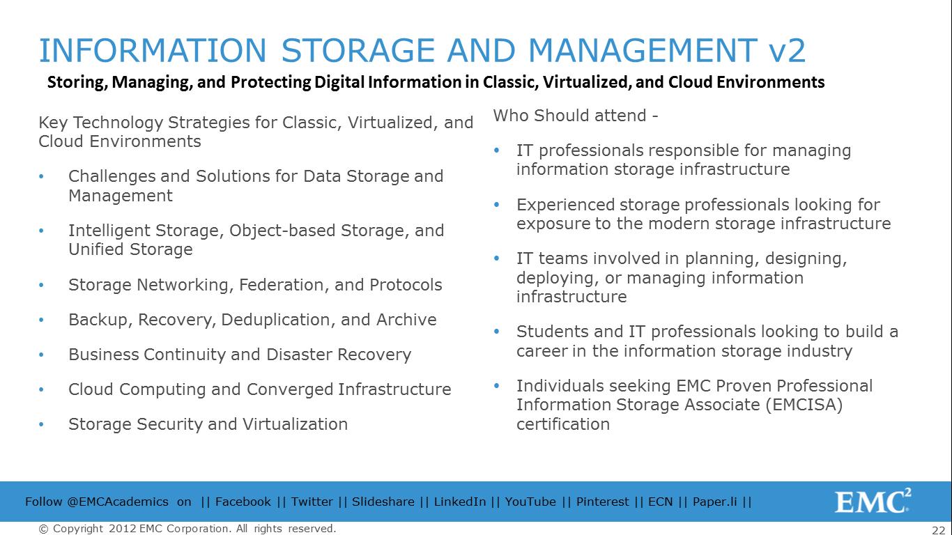 Rajesh Nambiars Blog Emcs Information Storage And Management V2