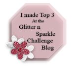 I Made Top 3 At Glitter and Sparkle