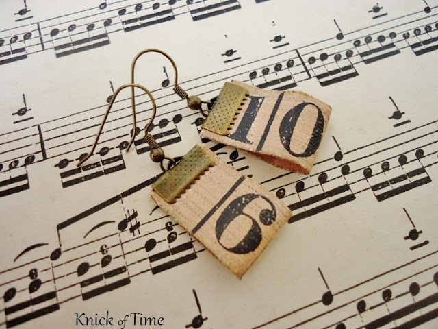 Repurposed Tape Measure Earrings/a repurposed and upcycled project/by KnickofTimeInteriors.blogspot.com