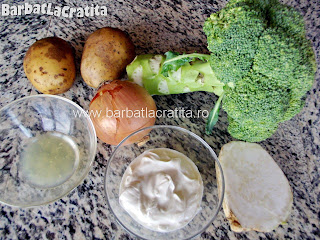 Supa crema de broccoli ingrediente reteta